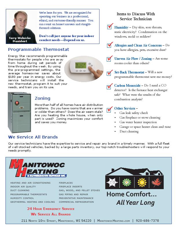 Service and Maintenance - June 130002 - Manitowoc Heating